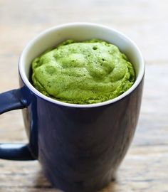 Matcha Green Tea Mug Cake | Can also bake it at 375 for 10 minutes instead of microwave. Substitute in 1/2 milk