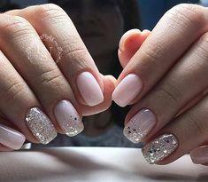 Nageldesign - Nail Art - Nagellack - Nail Polish - Nailart - Nails Nägel How to Make Hair Bows Artic Pale Pink Nails, White Nails, Pink Sparkle Nails, White Glitter, Glitter Art, Nail Glitter Design, Shellac Nail Designs, Pink Manicure, Pink Sparkles