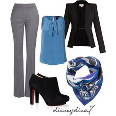 A fashion look from November 2011 featuring MARC BY MARC JACOBS blouses, Antonio Berardi blazers and Barneys New York pants. Browse and shop related looks.