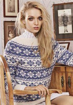 """Tema 39: Modell 5 """"Stjernebord"""" genser #norsk #klassiker #strikk #knit"""