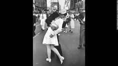 "Alfred Eisenstaedt's photograph of an American sailor kissing a woman in Times Square became a symbol of the excitement and joy at the end of World War II. The Life photographer didn't get their names, and several people have claimed to be the kissers over the years. A book released last year identifies the pair as George Mendonsa and Greta Zimmer Friedman. ""Suddenly, I was grabbed by a sailor,"" Friedman said in 2005. ""It wasn't that much of a kiss. It was more of a jubilant act that he…"