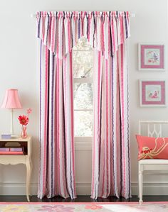 Beautiful Curtains For Girls Bedroom Decoration Appealing Pink White And Purple Striped Girls Bedroom Curtain