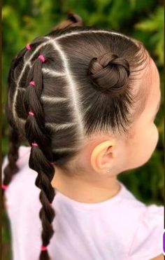 Baby Hairstyles Ideas – Baby and Toddler Clothing and Accesories Lil Girl Hairstyles, Oval Face Hairstyles, Kids Braided Hairstyles, Toddler Hairstyles, Prom Hairstyles, Curly Hair Styles, Natural Hair Styles, Girl Hair Dos, Hair Due