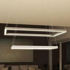 VONN Lighting Atria Duo 29-inch LED Low-profile Two-tier Rectangular Chandelier | Overstock.com Shopping - The Best Deals on Chandeliers & Pendants