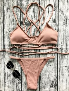 SHARE & Get it FREE | V String Bralette Bikini Set - LateriteFor Fashion Lovers only:80,000+ Items • New Arrivals Daily Join Zaful: Get YOUR $50 NOW!