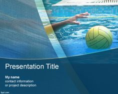 Free water polo PowerPoint template design