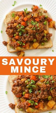 Savoury Mince is an easy and healthy weeknight dinner that is versatile too. Filled with plenty of vegetables including potato, carrot, celery and peas. This tasty old fashioned mince dish can be served on top of toast, a bed of rice or spooned into puff Minced Beef Recipes Easy, Lamb Mince Recipes, Minced Meat Recipe, Beef Recipes For Dinner, Meat Recipes, Cooking Recipes, Taco Mince Recipe, Meals With Mince, Curry Mince Recipe