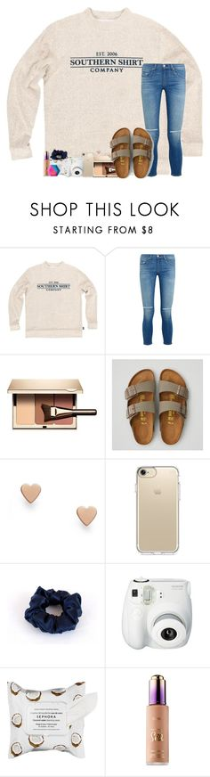 """you're my Sunday candy"" by legitmaddywill ❤ liked on Polyvore featuring rag & bone, Clarins, American Eagle Outfitters, FOSSIL, Speck, Fujifilm, Sephora Collection and tarte"