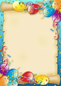 Balloon and rainbow ship frame – Valentine day gifts Happy Birthday Frame, Birthday Frames, Happy Birthday Cards, Birthday Greetings, Boarder Designs, Page Borders Design, Boarders And Frames, School Frame, Birthday Clipart