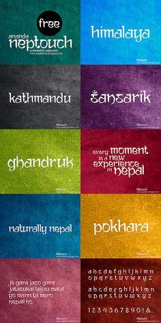 Ananda Neptouch Free Font by lalitkala on DeviantArt Graphic Design Fonts, Logo Design, Sanskrit Font, Travel Fonts, Indian Font, Name Plates For Home, Free Fonts For Designers, Professional Fonts, Visiting Card Design