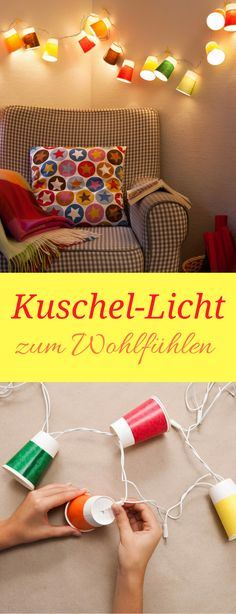 DIY Lichterkette - für schönes Wohlfühl Licht, Party oder Kuschelstimmung ❤︎ DIY autumn light - very easy tutorial