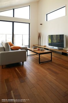 施工事例 Live Natural Premium ブラックチェリー|朝日ウッドテック株式会社 Natural Interior, Aesthetic Room Decor, Natural Living, My Room, Home Interior Design, Dining Bench, Home Goods, New Homes, Minimalist