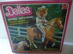 "Vintage 1980 Mattell Barbie Doll's Horse~""DALLAS""~"