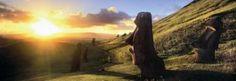 Panoramatické puzzle HEYE 1000 dílků - Velikonoční ostrov (Rapa Nui)