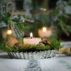Ihr Deko Kerzen Teelichter Kastanie 6er-Set Herbst braun Halloween  Weihnachten