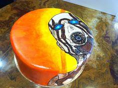 borderland cake   Borderlands Birthday cake, hand painted fondant