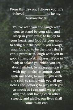 15 Romantic Non-traditional Wedding Vows for Your Ceremony--Wedding Vows to Husband and Wife ot Make You Cry, How to Write Your Own Wedding Vows,Impressive Wedding Vows Ideas Samples Wedding Quotes, Wedding Tips, Wedding Events, Wedding Planning, Wedding Bridesmaids, Wedding Dresses, Destination Wedding, Wedding Timeline, Wedding Games
