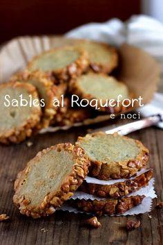 Sablés au roquefort et aux noix - Sablés al Roquefort e noci