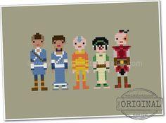 Pixel People - Avatar the Last Airbender - PDF Cross Stitch Pattern - INSTANT DOWNLOAD
