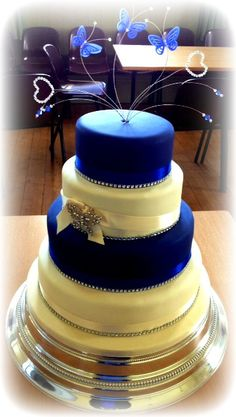 Blue Butterfly Wedding Cake | Flickr - Photo Sharing!