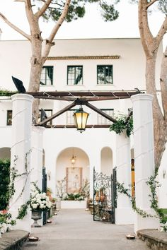 With an outdoor ceremony in a garden overlooking the Italy's Amalfi Coast coastline, a parade through the town square and  an al fresco reception under the stars