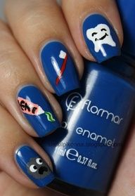 Dentist them nail art. This would be great when I start working :)