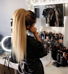 Image about girl in Beauty Room Inspo🍷 by Jenifer Cabello Ariana Grande, Clip In Hair Extensions, Hair Tools, Ponytail Hairstyles, About Hair, Instagram Girls, Disney Instagram, Hair Care, Hair Makeup