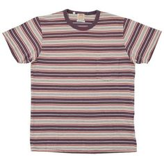Levi's Vintage 1960s Stripe Tee (200 BRL) ❤ liked on Polyvore featuring men's fashion, men's clothing, men's shirts, men's t-shirts, tops, shirts, t-shirts and tees