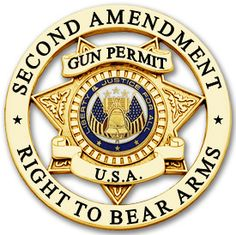 This stunning badge with a gold or silver finish will look great next to your gun permit license.