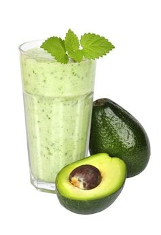 Smoothie with avocado and nuts