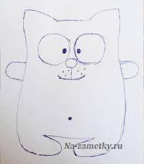 Картинки по запросу кофейный кот выкройка