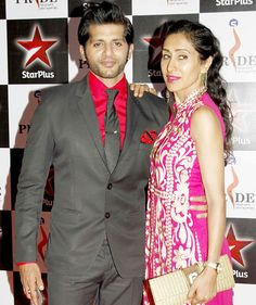 Karanvir Bohra with wife Teejay Sidhu at the Pride Gallantry Awards 2015. #Bollywood #Fashion #Style #Beauty #Handsome