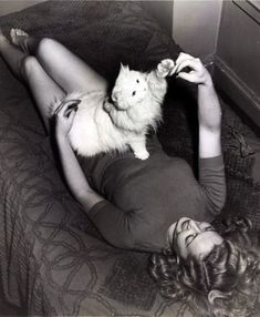 Marilyn et son chat