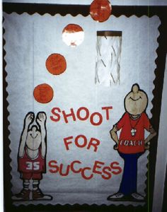 Basketball Theme Bulletin Board for beginning of the school year!