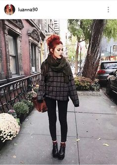 Last nights look around the West Village 💗🍂💗 Cute Casual Outfits, Fall Outfits, Fashion Outfits, Pretty Outfits, Grunge Outfits, Grunge Fashion, Luanna Perez, Wearing All Black, How To Look Classy