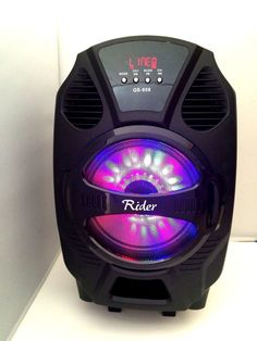 "Rider 8""Amplified woofer Portable/Rechargeable Tailgate Speaker/Bluetooth/USB/SD #Rider Bluetooth Speakers, Electronic Devices, Loudspeaker, Sd, Speakers"