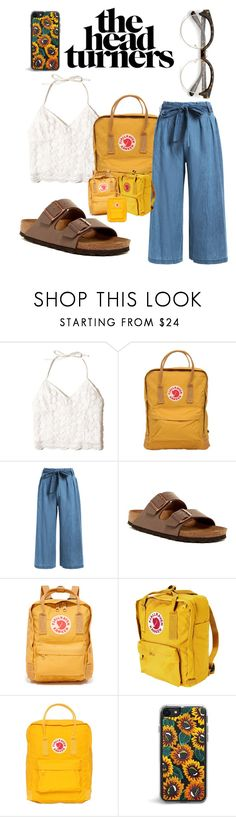 """""""summer days drifting away"""" by ttallulahh ❤ liked on Polyvore featuring Hollister Co., Fjällräven and Birkenstock"""
