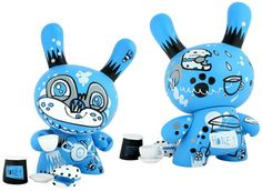 dunny 'tea bear' by Jon Burgerman