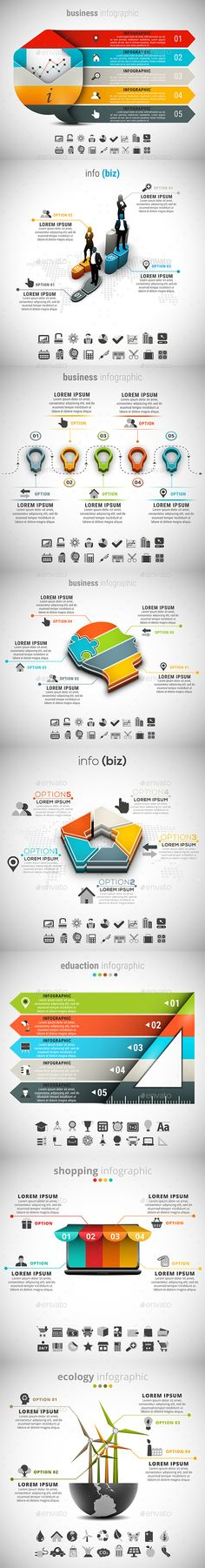 8 in 1 Infographic Templates Bundle - PSD, Vector EPS, AI Illustrator