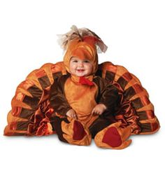 add a hokie shirt over top and you've got the hokie bird costume! Steve, this would be great for Gavin at Halloween! Cute Thanksgiving Outfits, Thanksgiving Fashion, Thanksgiving Baby, Twin Costumes, Costumes For Teens, Halloween Costumes For Kids, Baby Turkey Costume, Babys 1st Halloween