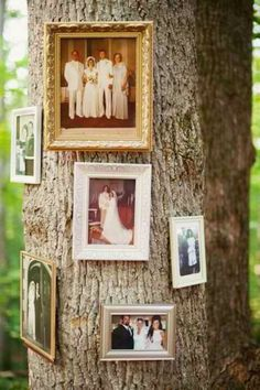 A time to include those that are closest to you! Share your family & friend photos in a unique way with this outdoor wedding idea!