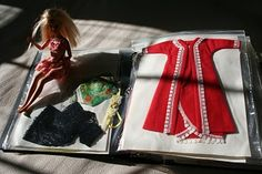 Pink and Green Mama: Getting Organized: Storing Barbie Doll Clothing