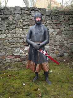 A. Görlach project. Awesome and accuracy representation of a XIII century knight. One of the best examples i Have ever seen. Germany.