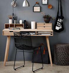 Kleiner Schreibtisch aus Eichen-Holz im dänischen Design