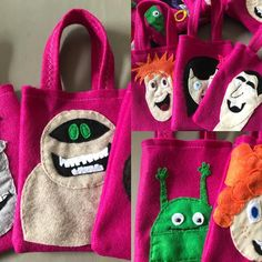 Note Transylvania New Movie and new felt party bags / party supplies Favor Bags, Goodie Bags, Frankenstein Wife, Hotel Transylvania Birthday, Hotels For Kids, Diy Wedding Favors, Party Favors, Red Green Yellow, Farm Party