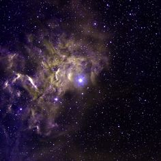 """""""Flaming star"""" lights up the local gas and dust"""