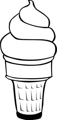 Ice cream coloring. Pinning this as a reminder to have kiddos draw scooped ice cream.