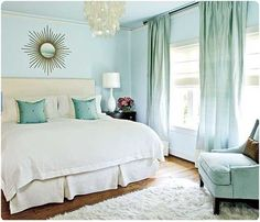 Love The Ht Look Of Mint Walls Bedroom Curtains Chair