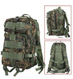 648c9c072015 This Woodland Digital Camo tactical pack is perfect for military