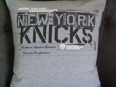 New York Knicks T Shirt Throw Pillow by ThePastureRoad on Etsy